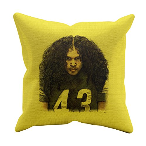500 LEVEL Troy Polamalu Pittsburgh Football Throw Pillow - 20