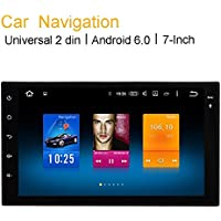 Dasaita 7 inch Unviersal Double Din Android Car GPS Stereo 2G+32G OCTA-Core Chip For Nissan Juke X-Trail With Blutooth Wifi Car Audio 8G Meomery Card With for Gift