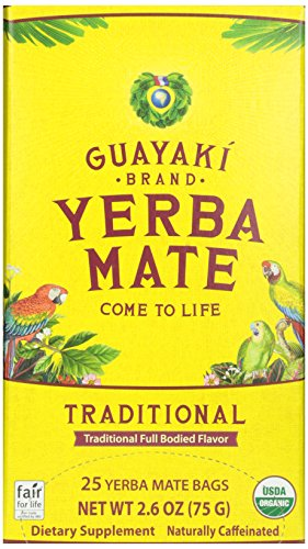 Guayaki Traditional Yerba Mate Tea, 25-Count