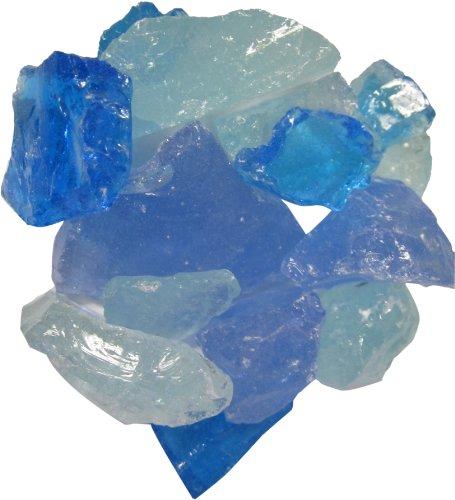 Exotic EG10-L08 Glass Pebble, Small, Bahama Blend, 10 Pounds