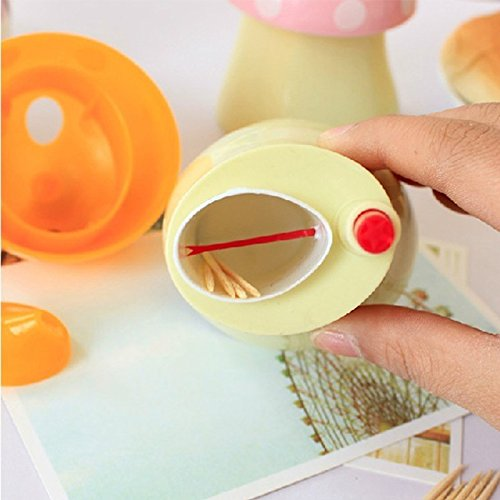 Zytho Tm New Pocket Plastic Mushroom Design Automatic Toothpick Holder Dispenser Box Cn Post