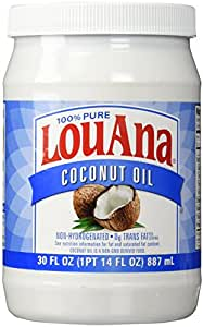 LouAna Pure Coconut Oil (All Natural) 30 fl oz