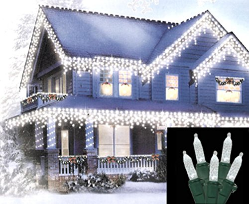 Red And Pure White Led M5 Icicle Christmas Lights