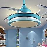 Huston Fan Blue Ceiling Chandelier 36-Inch Children Ceiling Fan With Remote Control Indoor Lights Universal Ceiling Fan
