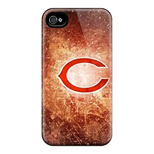 Shock Absorbent Hard Phone Covers For Iphone 4/4s (cRT19802RUXM) Allow Personal Design Trendy Chicago Bears Skin
