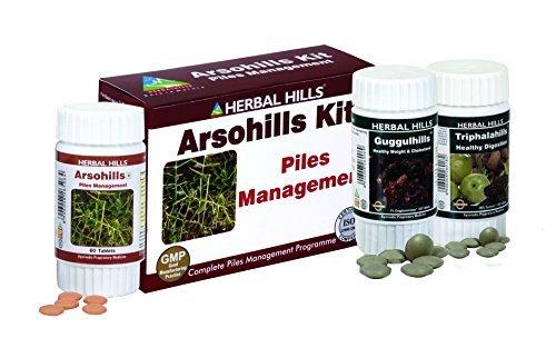 Herbal Hills Arsohills Kit for Herbal Piles Controller (Arsohills, Triphalahills, Guggulhills) by Herbal Hills