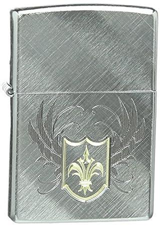 Zippo Pocket Lighter Fleur De Lis Diagonal Weave Pocket Lighter by Zippo