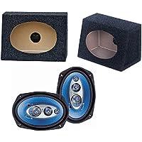 2) NEW Pyle PL6984 6x9 400W Car Audio Speakers + 2) 6x9 Speaker Box Enclosures