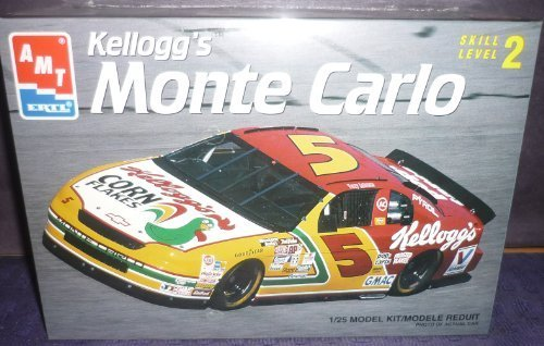 Monte Carlo Model Kit - #8187 AMT/Ertl Terry Labonte #5 Kellogg's Monte Carlo 1/25 Scale Plastic Model Kit,Needs Assembly