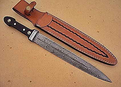 Amazon.com: ram-dg-178, acero de Damasco hecho a mano 16 ...