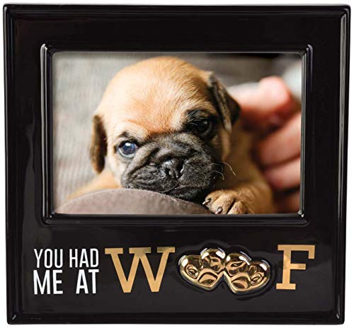 (Stephanie Imports Ceramic You Had Me at Woof Dog Picture Photo Frame)