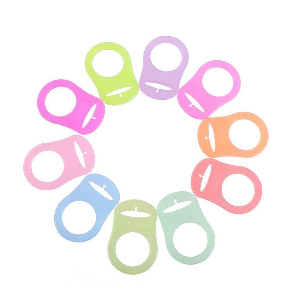 10Stk Baby Schnuller Ring Schnalle Mischfarben Silikon Adapter Halter Ringe f/ür Button Style Nippel Anti verlorenen Silikon Zubeh/ör OfficeProducts
