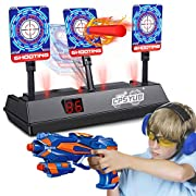 #LightningDeal CPSYUB (2020 Updated Edition) Electric Digital Target for Nerf Guns Toys,Scoring Auto Reset Nerf Target for Shooting with Wonderful Light Sound Effect Nerf Guns for Boys Girls(Only Target)