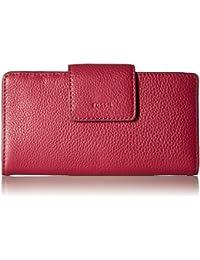 Fossil Emma Rfid Tab Clutch Raspberry Wine Wallet