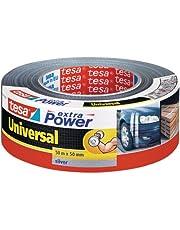 tesa extra Power Universal - Extra sterk klevende ducttape - Textieltape voor universeel gebruik - Zilver - 50 mm x 50 m