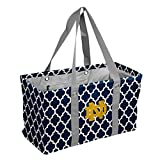 Logo Brands NCAA Notre Dame Fighting Irish Unisex Notre Dame Quatrefoil Picnic Caddynotre Dame Quatrefoil Picnic Caddy, Navy, Adult