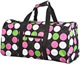World Traveler Multicolor Polka Dots Gym Duffle Bag 21-inch