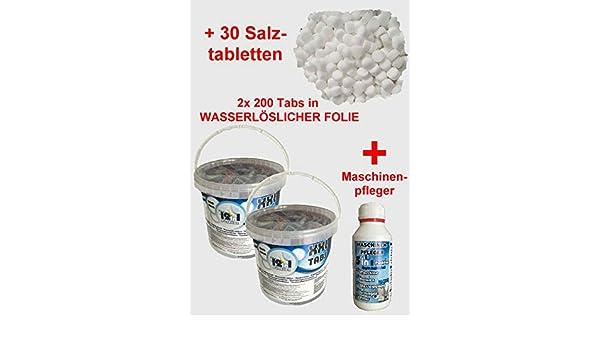 NM 2 x 200 Pastillas para lavavajillas + 1 MP + Sal spültabs ...