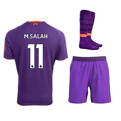 huge selection of 3df8e 48171 Amazon.com : ZZXYSY Salah #11 Liverpool Kids/Youths Away ...