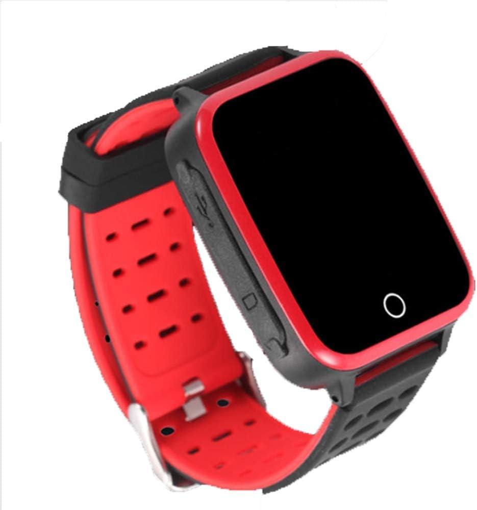 Tlyd Reloj Detección Inteligente Temperatura con GPS/Beidou Dispositivo/WiFi Posicionamiento Anti-Perdida con La Presión/Oxígeno Sangre Dinámica Frecuencia Cardíaca/Detección Sangre,Negro