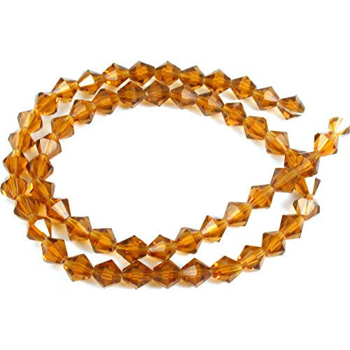 - Topaz Faceted Bicone FP Chinese Crystal Beads 6mm 1 St
