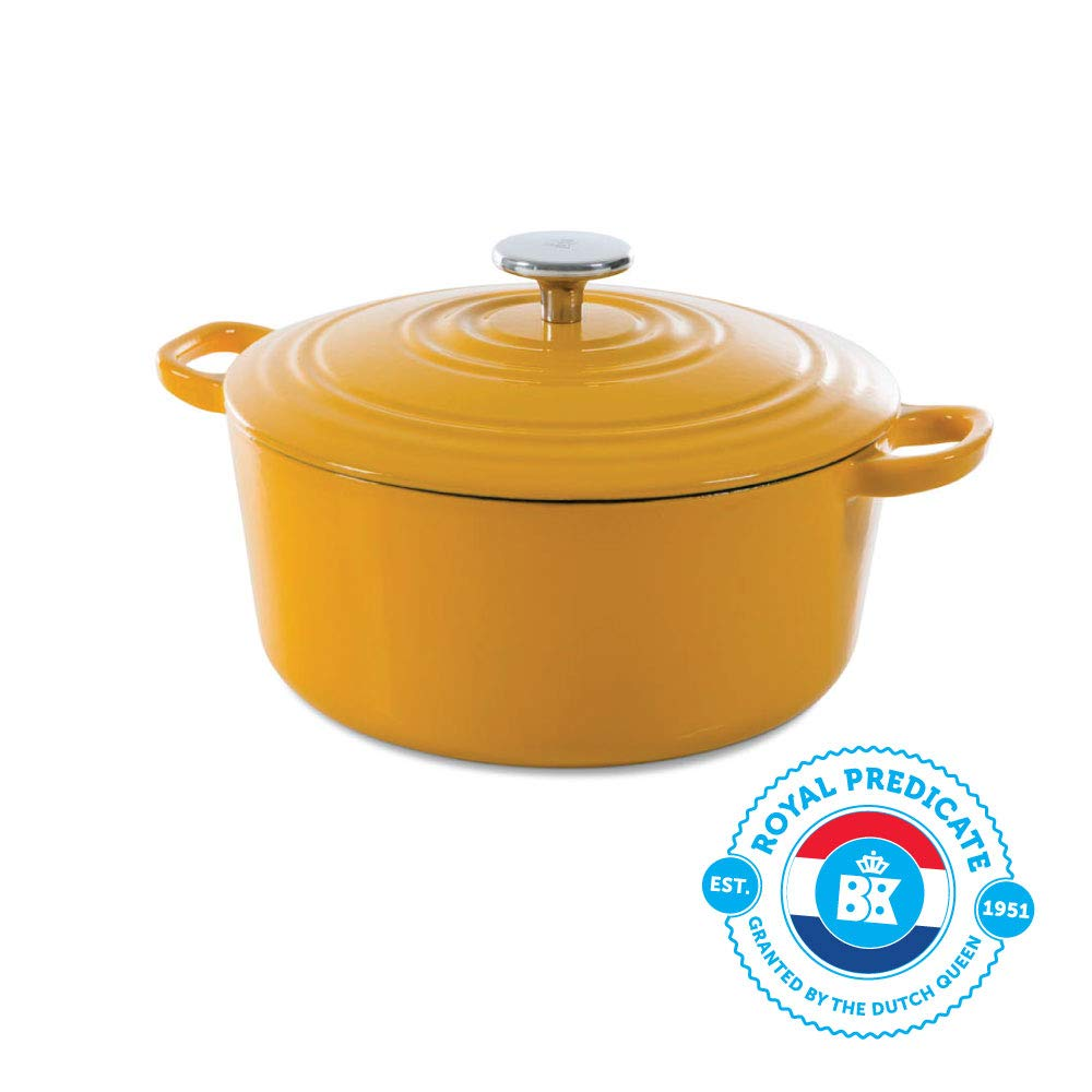 BK H6075.524 Bourgogne Cast Iron Pan 4.4QT Yellow