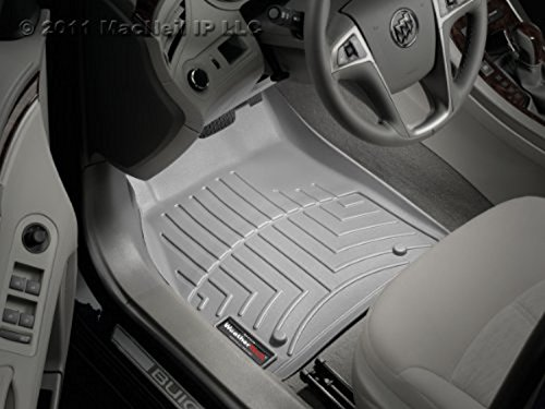 Terrain Front Floor Liner - WeatherTech Custom Fit Front FloorLiner for GMC Terrain, Gray