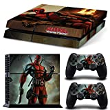 Golden PS4 Console and DualShock 4 Controller Skin Decal Stickers Set Deadpool- PlayStation 4 Vinyl Decals(2801)