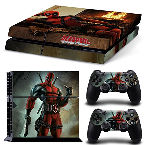 golden-ps4-console-and-dualshock-4-controller-skin-decal-stickers-set-deadpool-playstation-4-vinyl-d