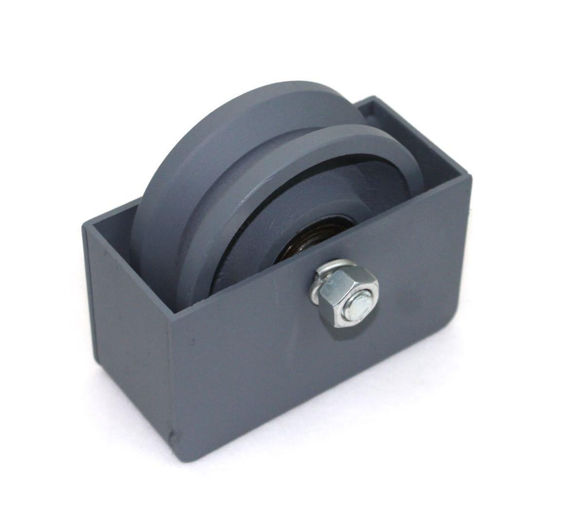 USA Premium Store 4'' Cast Iron V Groove Wheel Plus Weldable Wheel Box For Rolling/Sliding Gates