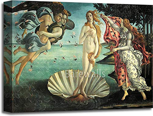 The Birth of Venus by Sandro BotticelliギャラリーWrappedキャンバスアート 16in. x 20in. B075CFLWSD  16in. x 20in.