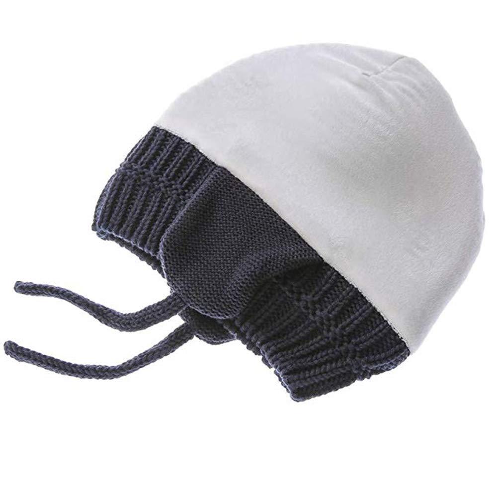 eb15bb9095f Amazon.com  AoMoon Baby Winter Warm Knit Hat Infant Toddler Kid Crochet  Bear Ears Beanie Cap  Clothing