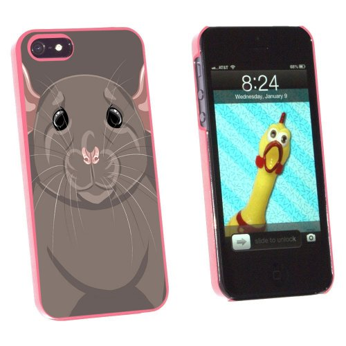Graphics and More Rat Dumbo Fancy Gray - Pet Mouse Snap-On Hard Protective Case for Apple iPhone 5/5s - Non-Retail Packaging - (Dumbo Rat)