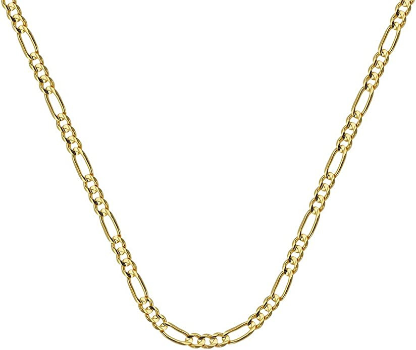10 inches Roy Rose Jewelry 10K Yellow Gold 2.50mm Figaro Chain ~ length