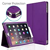 CaseCrown iPad Air 2 Case, [CORNER PROTECTION] Bold Standby Pro (Purple) with Sleep/Wake & Multi-Angle Viewing Stand