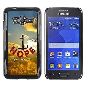 Be Good Phone Accessory // Dura Cáscara cubierta Protectora Caso Carcasa Funda de Protección para Samsung Galaxy Ace 4 G313 SM-G313F // BIBLE Hope - Firm And Secure