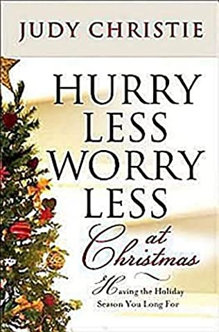 book cover of Hurry Less, Worry Less at Christmastime