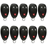 Car Key Fob Keyless Entry Remote fits Chevrolet, Buick, Pontiac, Saturn (15777636), Bulk Lot of 10