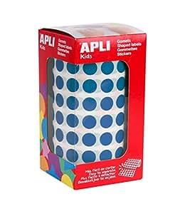 Apli 946005 - Rollo gomets redondos, 10.5 mm, color azul