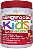 Organic Superfoods For Kids (60-Day Supply): Red & Greens, Vitamins & Minerals, Doctor-Formulated Organic, Gluten Free, Vegan, Whole Food Powder - Fruits, Veggies, Probiotics & Digestive Enzymes.