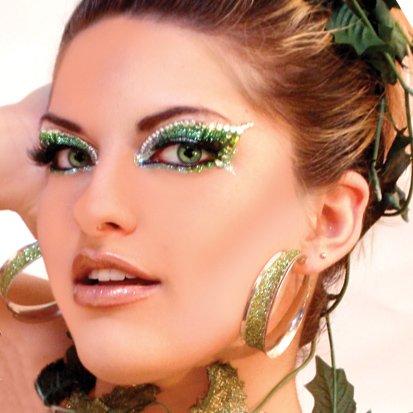 Envy Xotic Yeux Vert Glitter professionnels Make Up Dancer Costume Day St Patricks