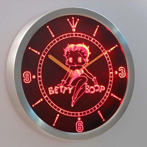 Betty Boop Neon Clock - Betty Boop 3D Neon Sign LED Wall Clock NC0233-R