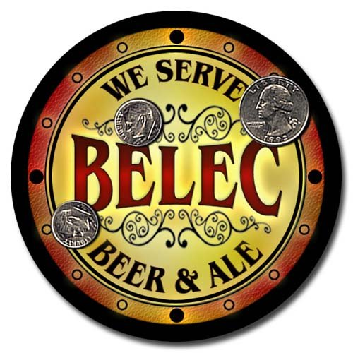 Belec Family Name Beer & Ale Neoprene Coasters - Set 4pcs from ZuWEE