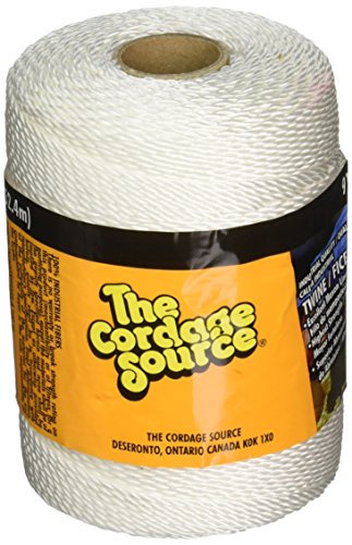 CORDAGE SOURCE 91 No.18 Twisted Nylon Twine, 500-Feet, White by Cordage Source