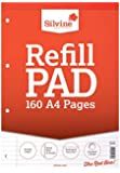 Silvine 573780 A4 Refill Pad - Ruled feint and margin, 160 pages of 75gsm paper. Ref A4RPFM (210 x 297mm)
