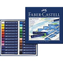 Faber-Castel FC127024 Creative Studio Oil Pastel Crayons (24 Pack), Assorted by Faber-Castel