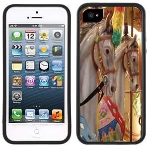 Carousel Horses Handmade iPhone 5C Black Case