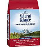 Natural Balance L.I.D. Limited Ingredient Diets Dry Dog Food, Grain Free, Sweet Potato & Bison Formula, 13-Pound