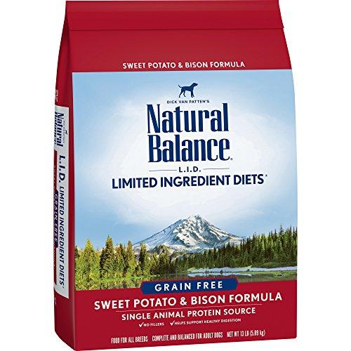 Natural Balance L.I.D. Limited Ingredient Diets Dry Dog Food, Grain Free, Sweet Potato & Bison Formula, 13-Pound (L/d Diet)