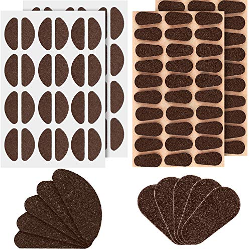 Chuangdi 2 Styles Soft Foam Nose Pads Self Adhesive Eyeglass Nose Pads Anti-Slip Eyeglass Nose Pads Thin Nosepads for Glasses Eyeglasses Sunglasses, 60 Pairs (Coffee Color) ()